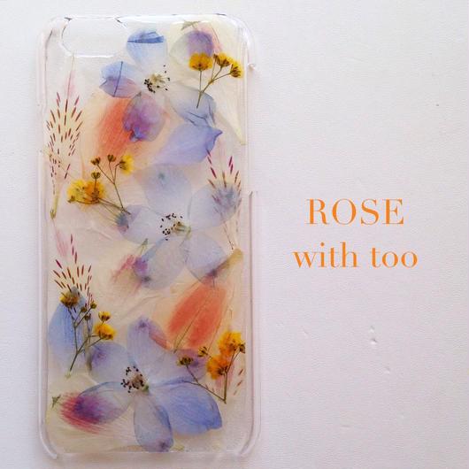 iPhone6用 フラワーアートケース 押し花デザイン 0909_2