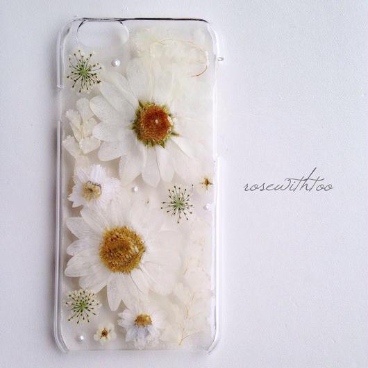 【再販】iPhone6用 フラワーアートケース 押し花デザイン0106_1