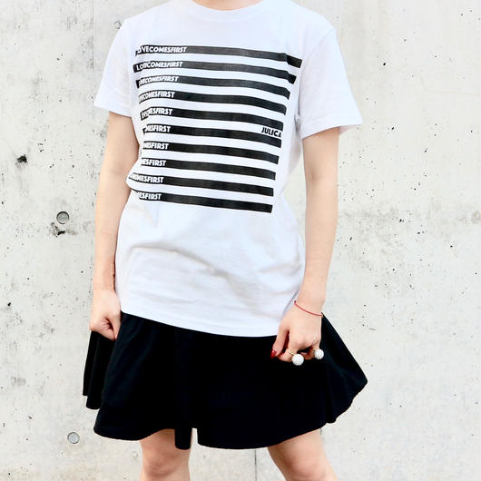 JULICA | STRIPED LOVECOMESFIRST T-SHIRT