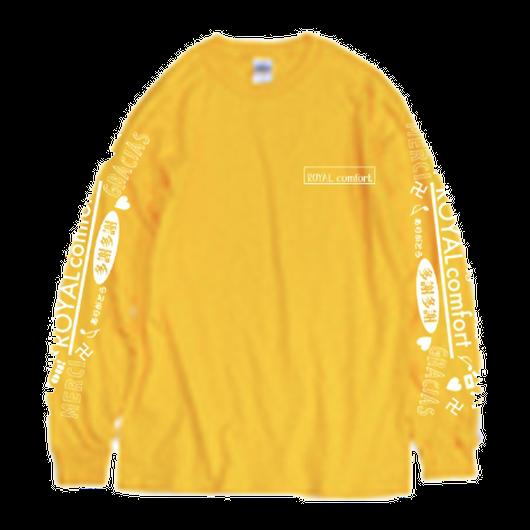 2017年末ロングTシャツ(ゴールド)