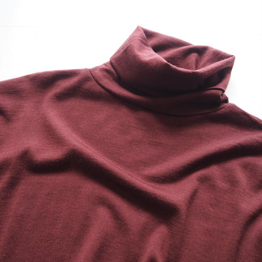 "Graphpaper ""Washable Wool High Neck Tee""  Bordeaux unisex"