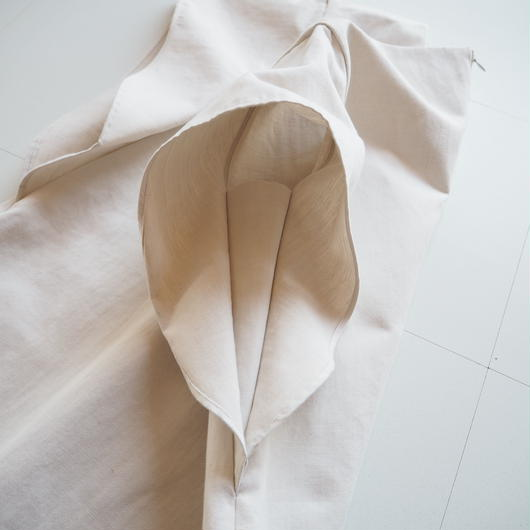 """Graphpaper """"Flared Sleeve Dress"""" Natural women's"""