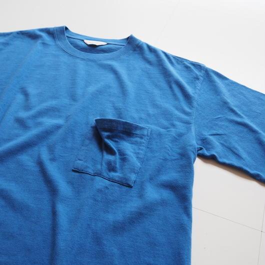 """UNUSED """"US1368 Pocket T-shirt.. """" Blue unisex"""