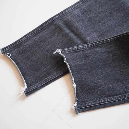 """UNUSED """"UW0571 12oz Denim Cut Off Pants."""" Black unisex"""