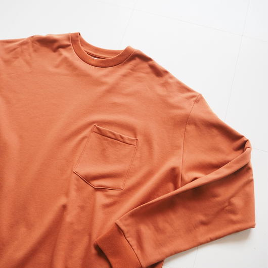 "Graphpaper ""L/S Pocket Sweat Tee""  Brick unisex"
