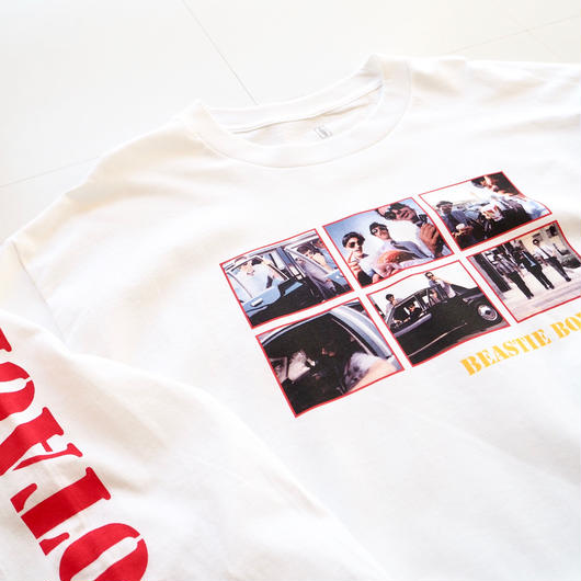 "GIRL ""GIRL × BEASTIE BOYS ""SABOTAGE"" L/S Tee"" Photographed by Spike Jonze"