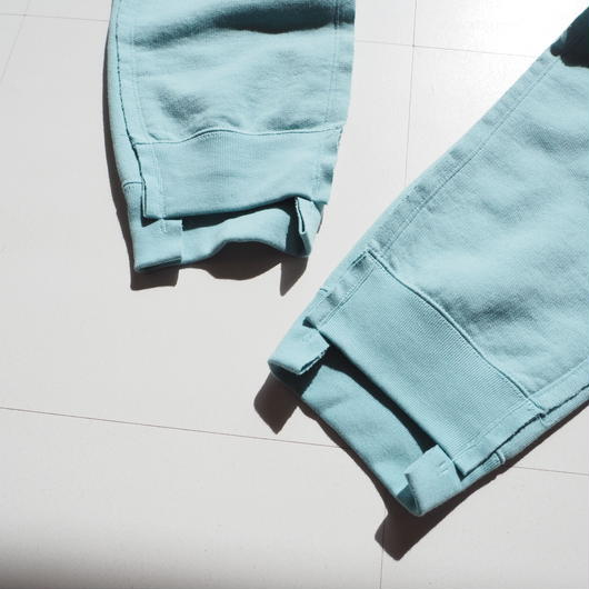 "UNUSED ""UW0704 Sweat Pants."" Blue Green unisex"