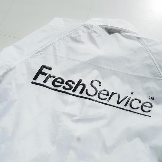 """FreshService """"Corporate Coach Jacket""""  White unisex"""