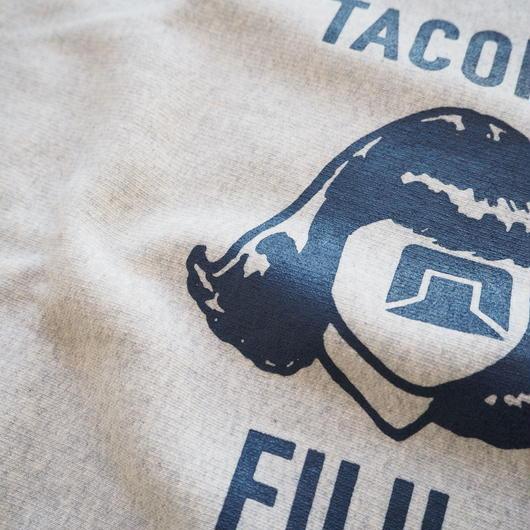 """TACOMA FUJI RECORDS """"LOGO MARK SWEAT designed by Jerry UKAI """" Oatmeal unisex"""