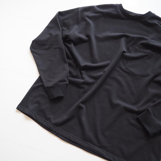 "Graphpaper ""L/S Pocket Sweat Tee""  Black unisex"