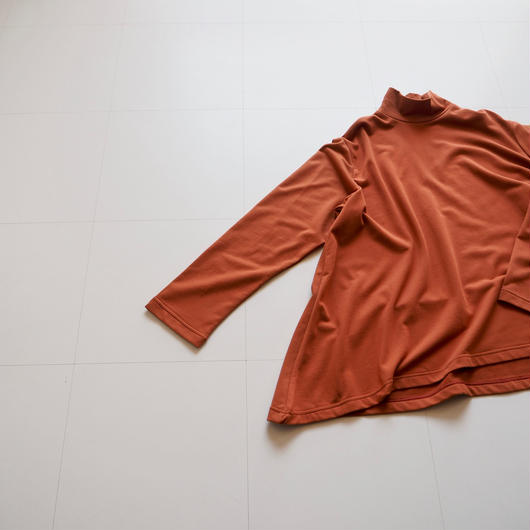 "Graphpaper ""Irregular Hem High Neck Sweat"" Brick"