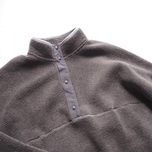 """Graphpaper """"Wool Boa High Neck Pullover""""  Gray"""