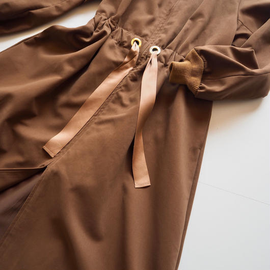 "Graphpaper ""Cotton Double Cloth Belted Long Coat"" Brown women"
