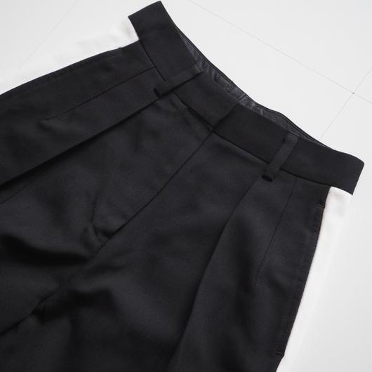 "UNUSED ""UW0646 Side Line Pants"" Black women's"