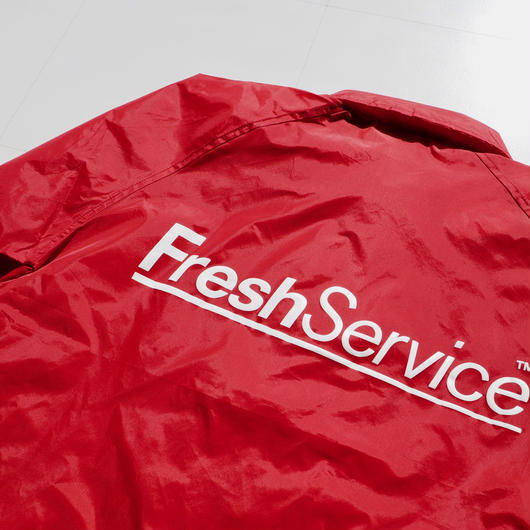 "FreshService ""Corporate Coach Jacket""  Red unisex"