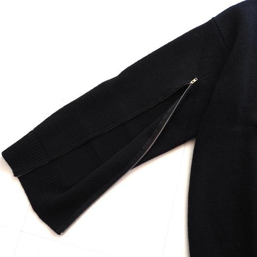 """UNUSED """"US1497 zip knit."""" black unisex"""