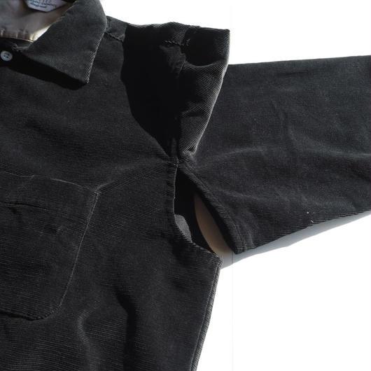 """UNUSED """"US1376 Corduroy Shirt """" Black unisex"""