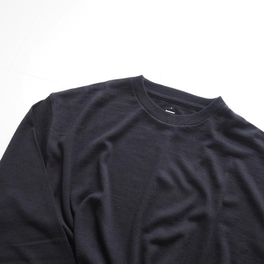 "Graphpaper ""Washable Wool Crew Neck Tee""  Black unisex"