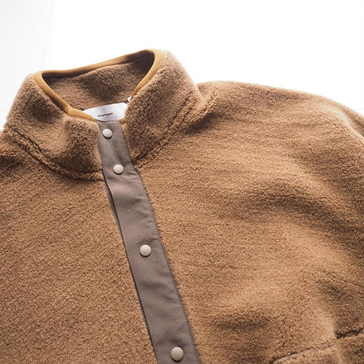"""Graphpaper """"Wool Boa High Neck Pullover""""  Camel Brown"""