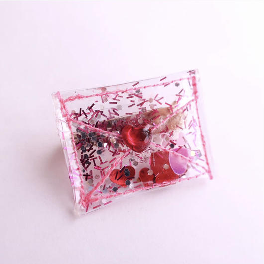 MICHU COQUETTE       PVC glitter mini clutch bag