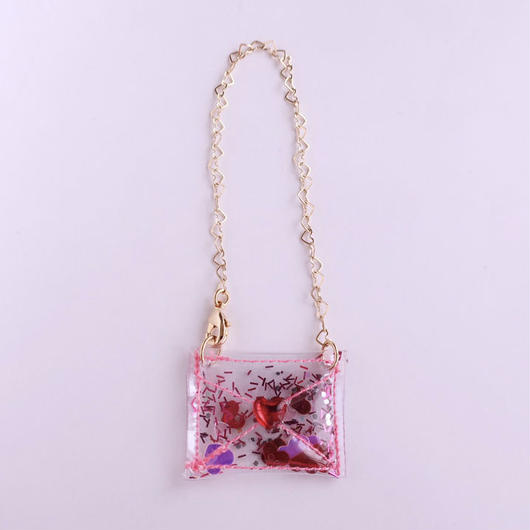 MICHU COQUETTE     PVC glitter mini shoulder bag