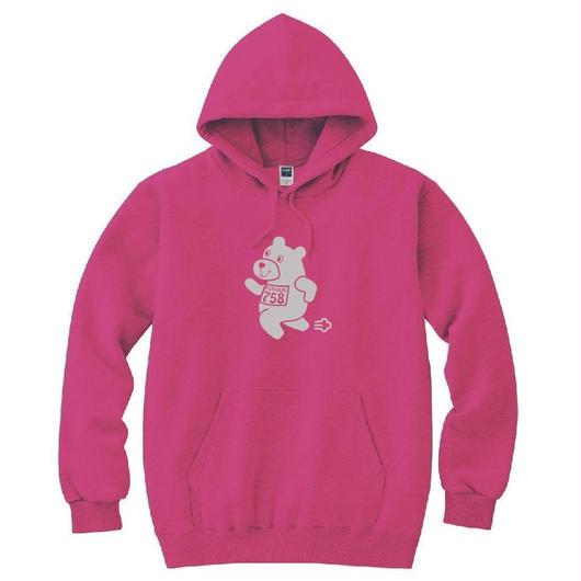 C. 【くまパーカー】pink×gray
