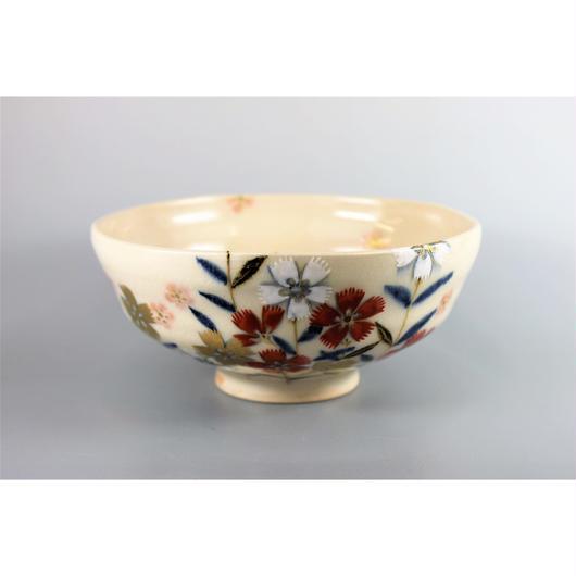 馬盥石彩撫子茶碗