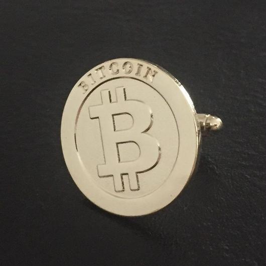 ビットコイン カフス ゴールド 2個セット
