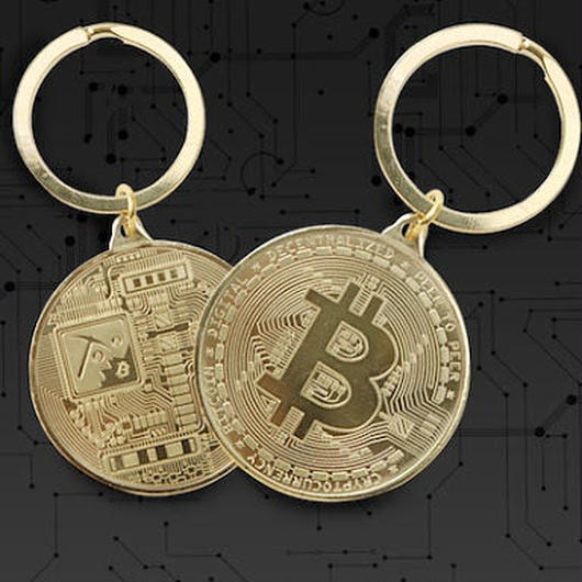 ビットコイン マイニング キーホルダー 3色