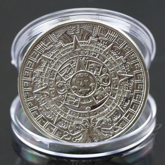 アステカマヤ暦 シルバーコイン
