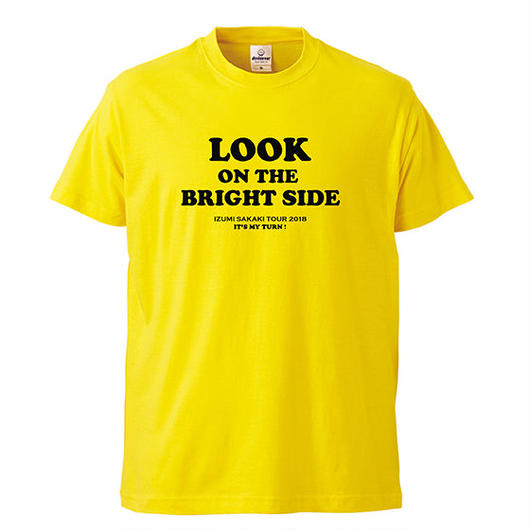 LOOK ON THE BRIGHT SIDE T-shirts(yellow)