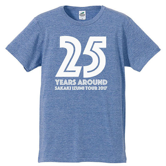 25years around Tシャツ / VINTAGE HEATHER BLUE