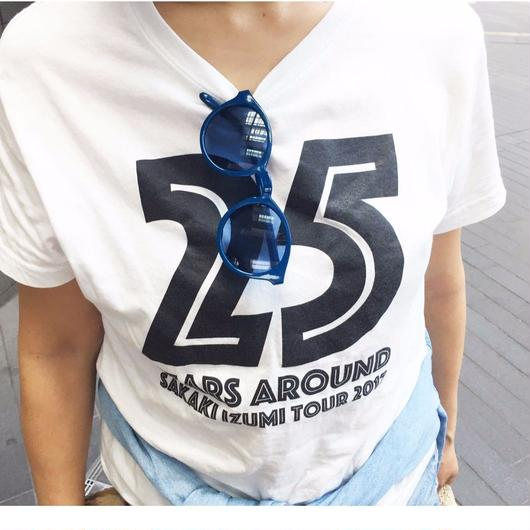 25years around Tシャツ  /    WHITE