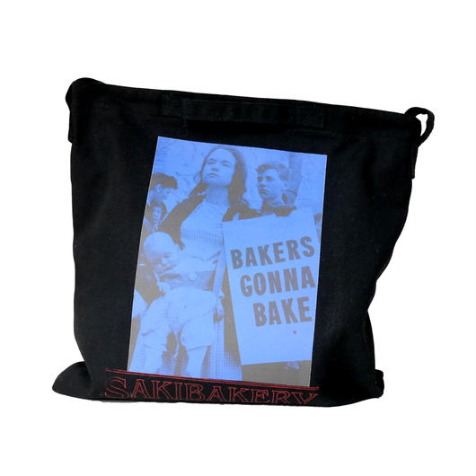 SakiBakery Logo&photo screen print 2Way Bag