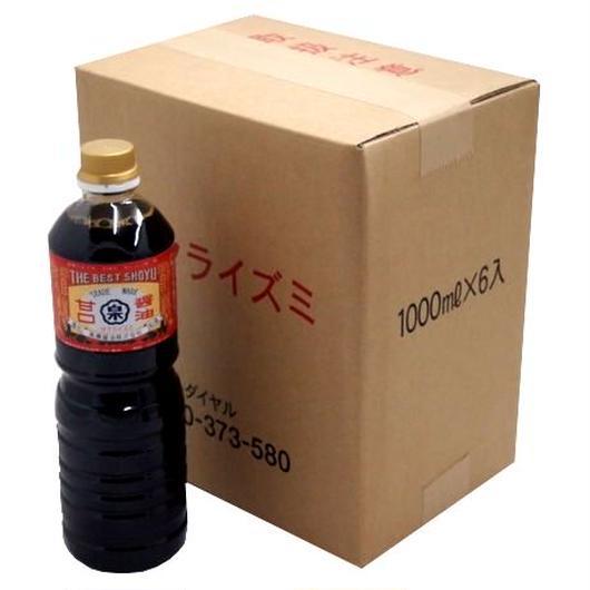 徳用まとめ買い 甘口醤油(1Lペットボトル×6本)