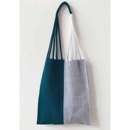 pips / cotton handwoven hammock bag / white x green  / ピップス / コットン ハンモックバッグ