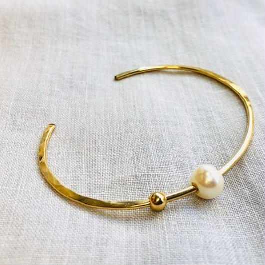 cinq / roam pearl cuff  / 14k  gold filed/ pearl  / シンク /パールバングル
