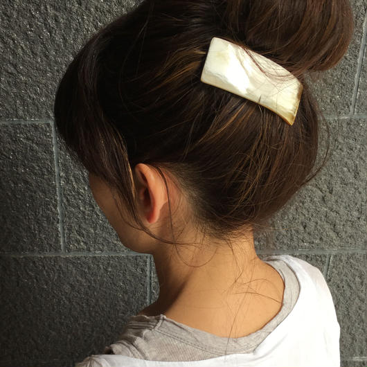 kostkamm /horn  hair baretta  8cm  / コストカ/水牛角バレッタ/ 8cm