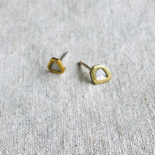 ishi jewelry / diamond slice earring  / イシジュエリー / ダイヤモンド スライス ピアス