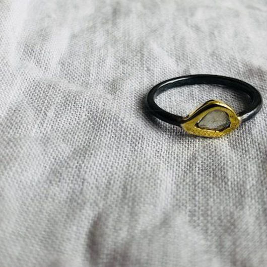 Ishi jewelry / diamond slice tiny  ring / イシジュエリー/ ダイアモンドスライスング / 7号サイズ