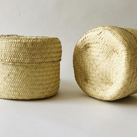 oaxacan palm leaf basket natural small size  / オアハカ / パームリーフバスケットバッグ