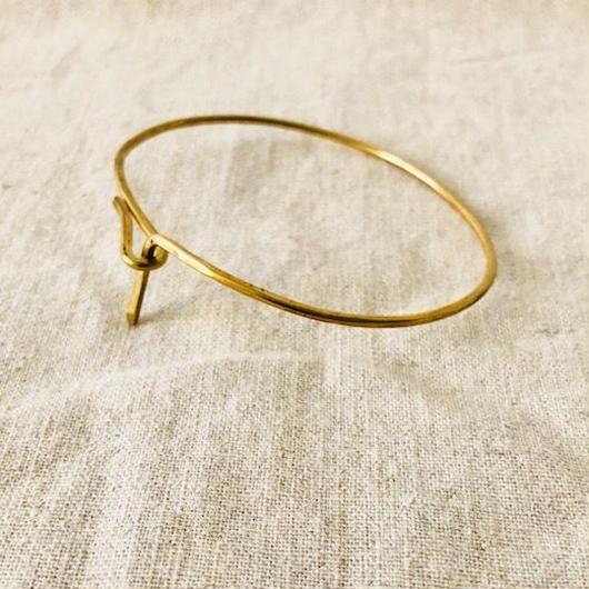 cinq / gather  cuff  / brass / 真鍮/バングル  のコピー