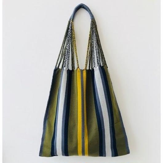 pips / cotton hand woven hammock bag / green  / ピップス / コットン ハンモックバッグ
