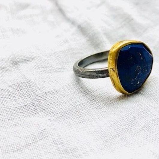 ishi jewelry / ring wabi lapis  / イシジュエリー /  ラピスラズリリング