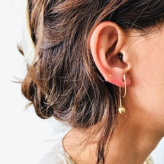 cinq /maquette ear drop / 14 K   gold filed / シンク /片耳ピアス
