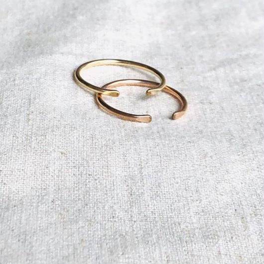 cinq / Clean ring / gold filled , rose gold filled