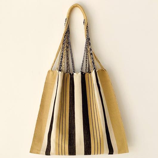 pips / cotton hand woven  hammock bag  / beige  / ピップス / コットン ハンモックバッグ