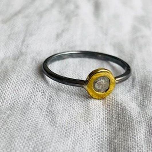 Ishi jewelry / diamond slice tiny  ring / イシジュエリー/ ダイアモンドスライスング / 14号サイズ