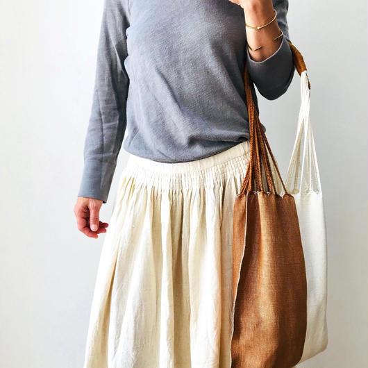 pips / cotton hand woven  hammock bag  / rust   x natural   / ピップス / コットン ハンモックバッグ