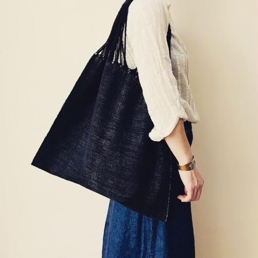 pips / cotton hand woven  hammock bag/ black x natural  / ピップス / コットン ハンモックバッグ